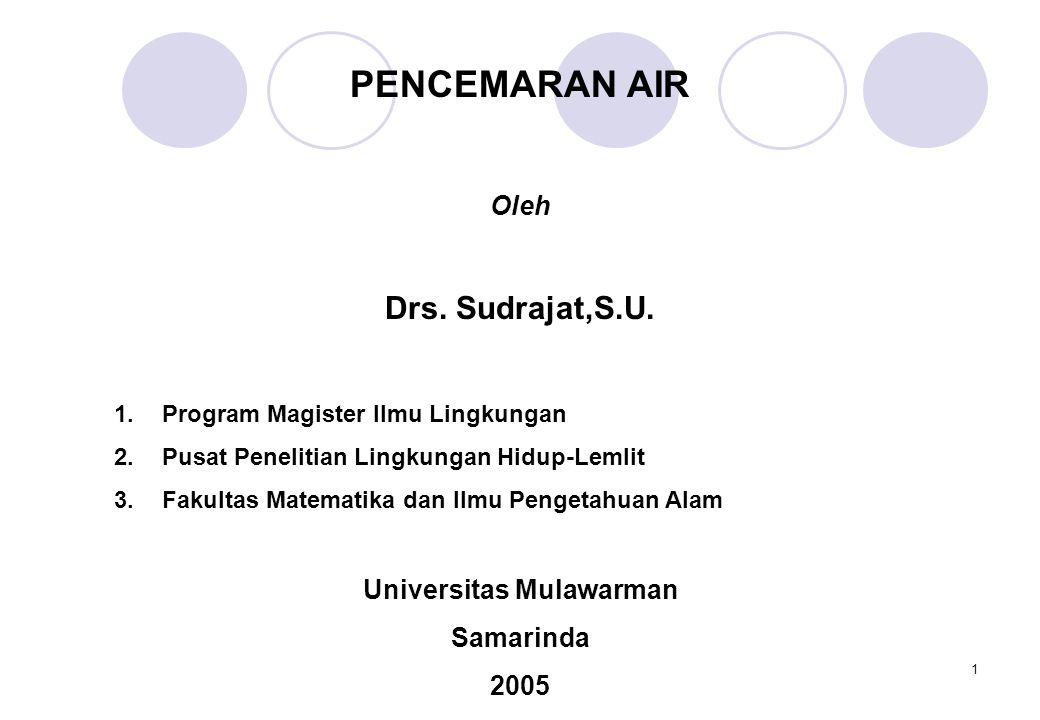 1 PENCEMARAN AIR Oleh Drs.Sudrajat,S.U.
