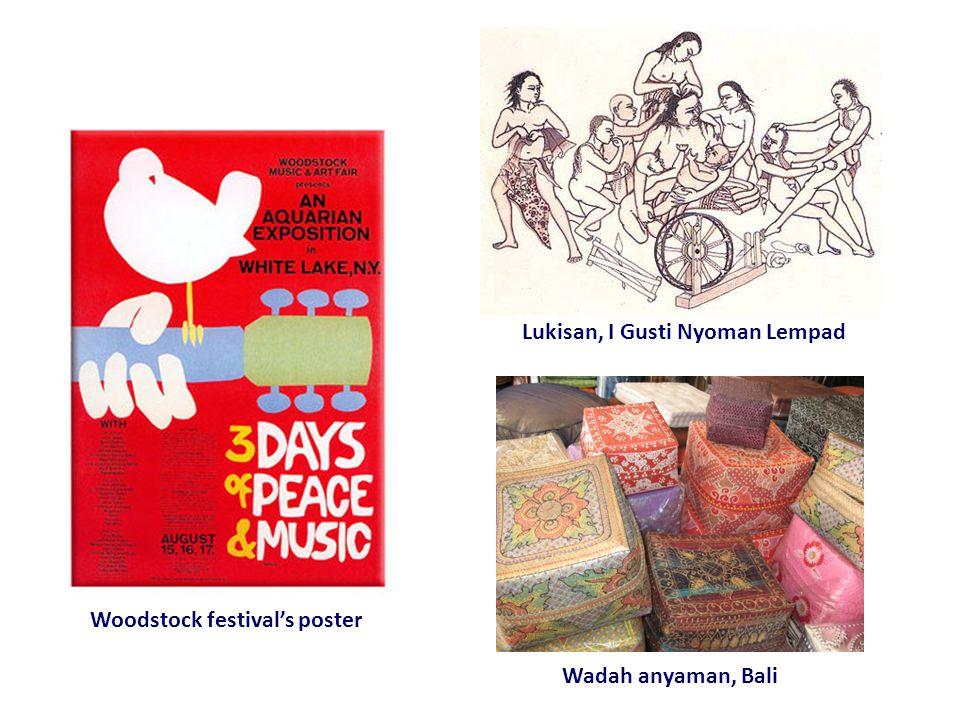 Wadah anyaman, Bali Woodstock festival's poster Lukisan, I Gusti Nyoman Lempad