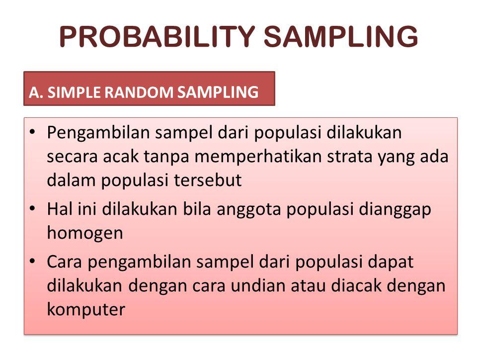 PROBABILITY SAMPLING A.