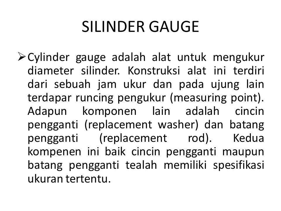 Contoh gambar untuk Silinder Gauge. Gambar untuk Silinder Gauge.