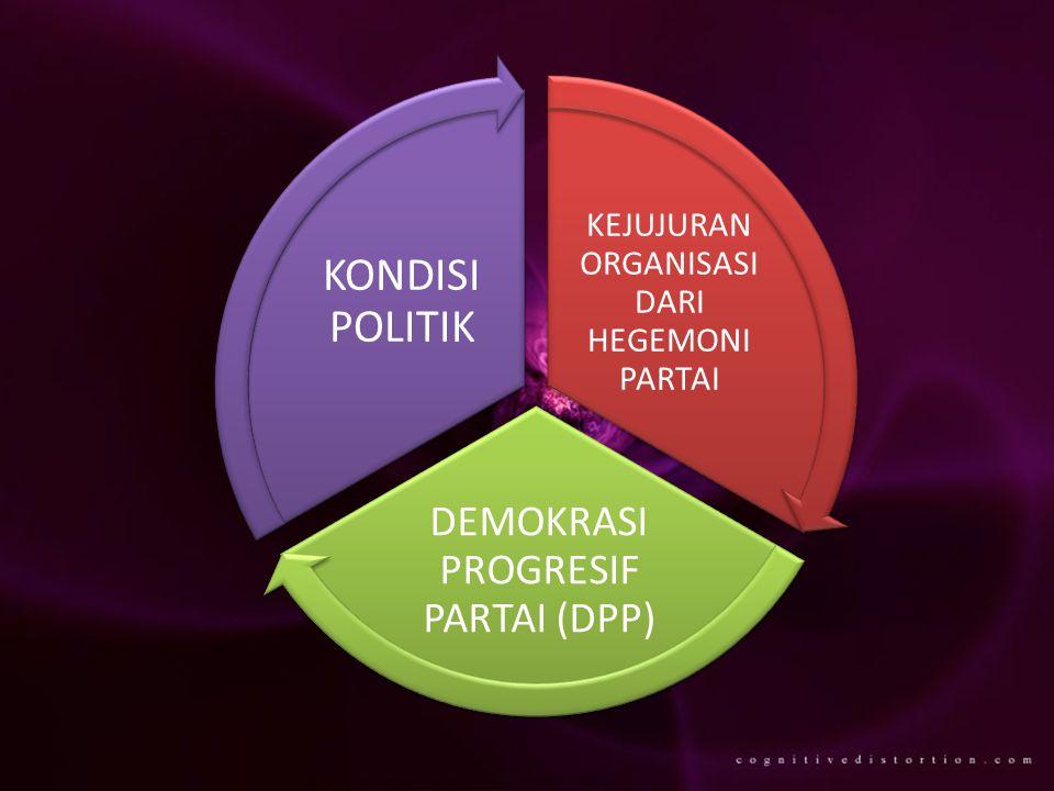 KEJUJURAN ORGANISASI DARI HEGEMONI PARTAI DEMOKRASI PROGRESIF PARTAI (DPP) KONDISI POLITIK