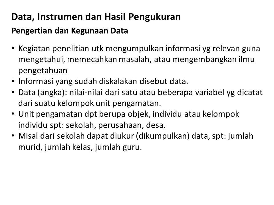 Klasifikasi Data menurut 1.