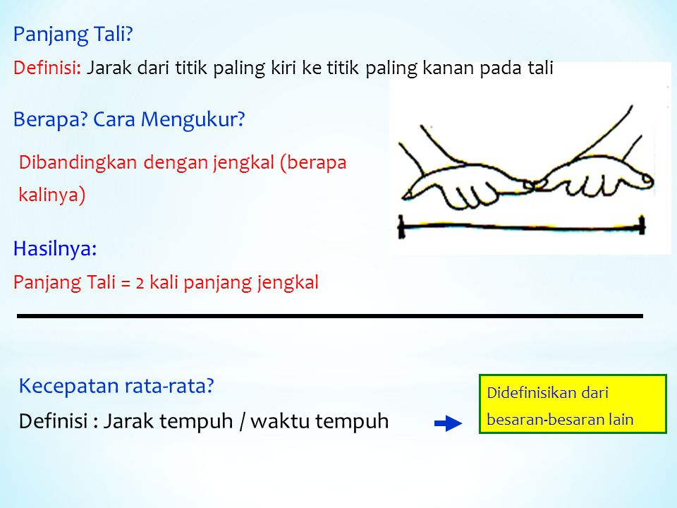 Panjang Tali.Definisi: Jarak dari titik paling kiri ke titik paling kanan pada tali Berapa.
