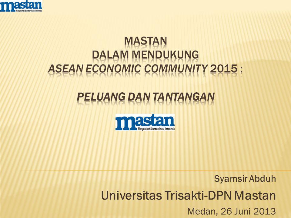 Syamsir Abduh Universitas Trisakti-DPN Mastan Medan, 26 Juni 2013