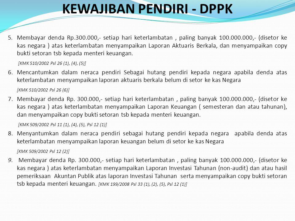 KEWAJIBAN PENDIRI - DPPK 5.