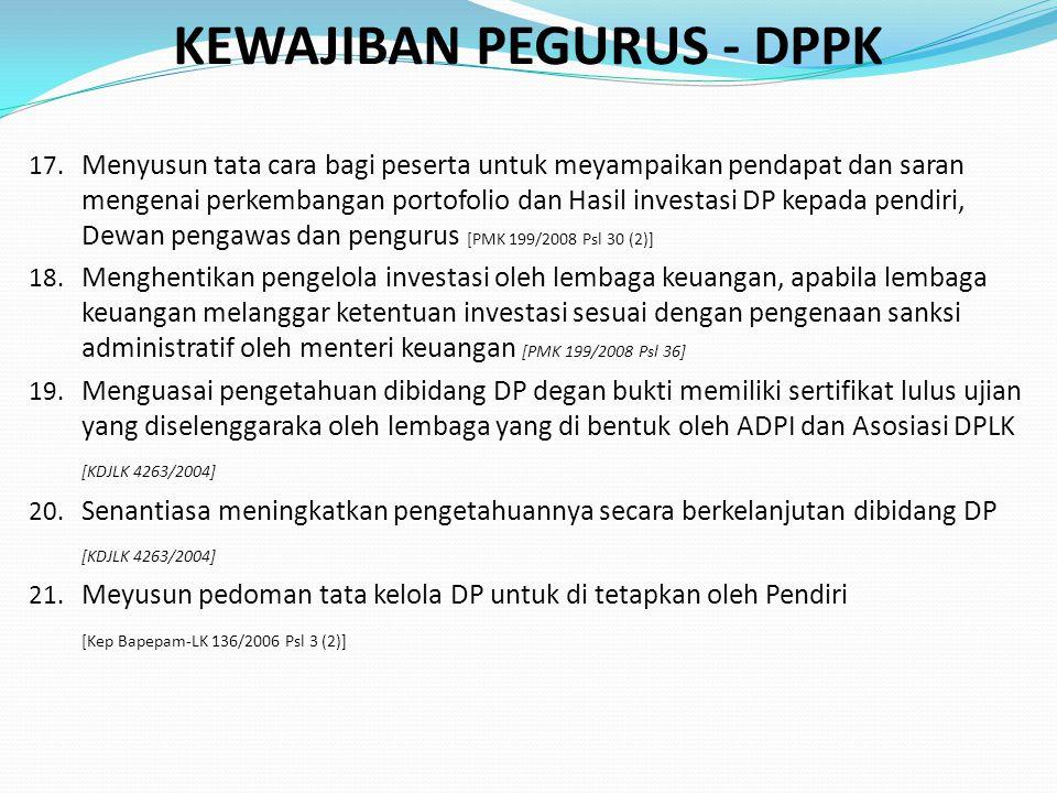 KEWAJIBAN PEGURUS - DPPK 17.