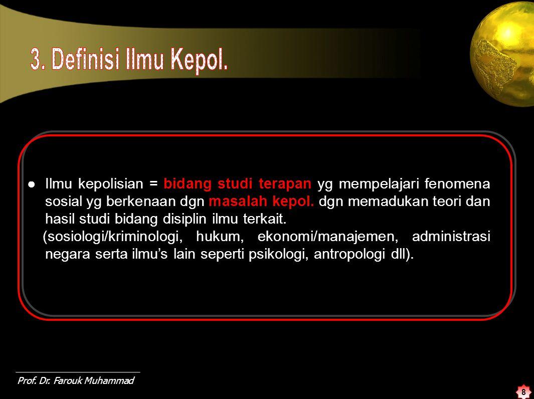 9 Sosiologi / Kriminologi Kejahatan - Ilmu Adm.