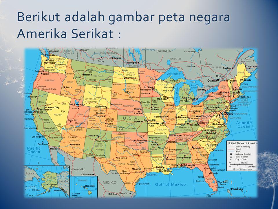 Berikut adalah gambar peta negara Amerika Serikat :