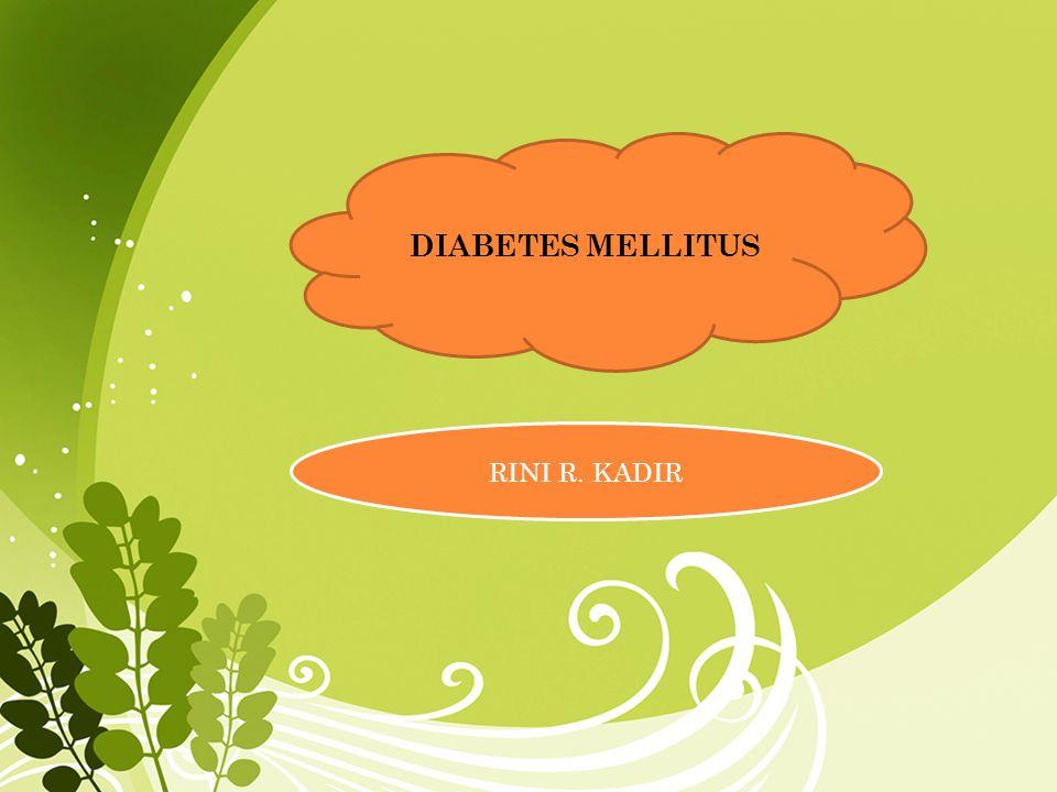 A.DEFINISI DIABETES MELITUS Diabetes Melitus (DM) adalah suatu penyakit yang di nyatakan dengan adanya hiperglikemia kronik dan gangguan metabolisme karbohidrat, lemak, dan protein yang berkaitan dengan perkembangan terjadinya komplikasi mikrovaskular (diabetes nefropati, retinopati, dan neuropati) dan makrovaskular (penyakit jantung koroner (PJ), stroke, dan kaki diaberik).