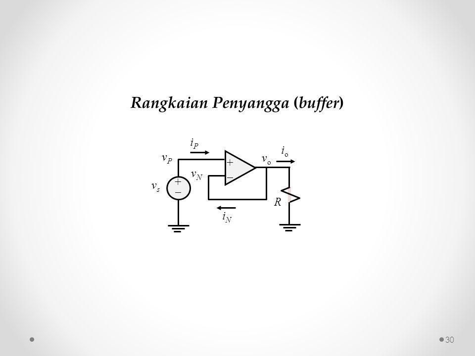 30 ++ ++ iPiP iNiN vPvP vsvs vNvN R vo vo ioio Rangkaian Penyangga (buffer)