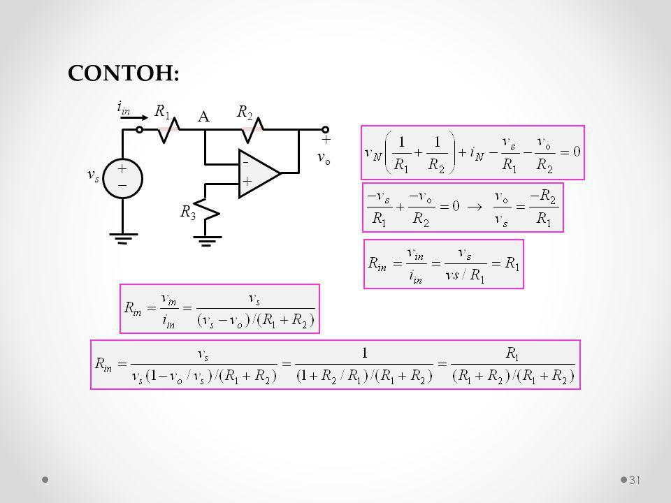 R2R2 ++ ++ + v o R1R1 R3R3 vsvs A i in CONTOH: 31