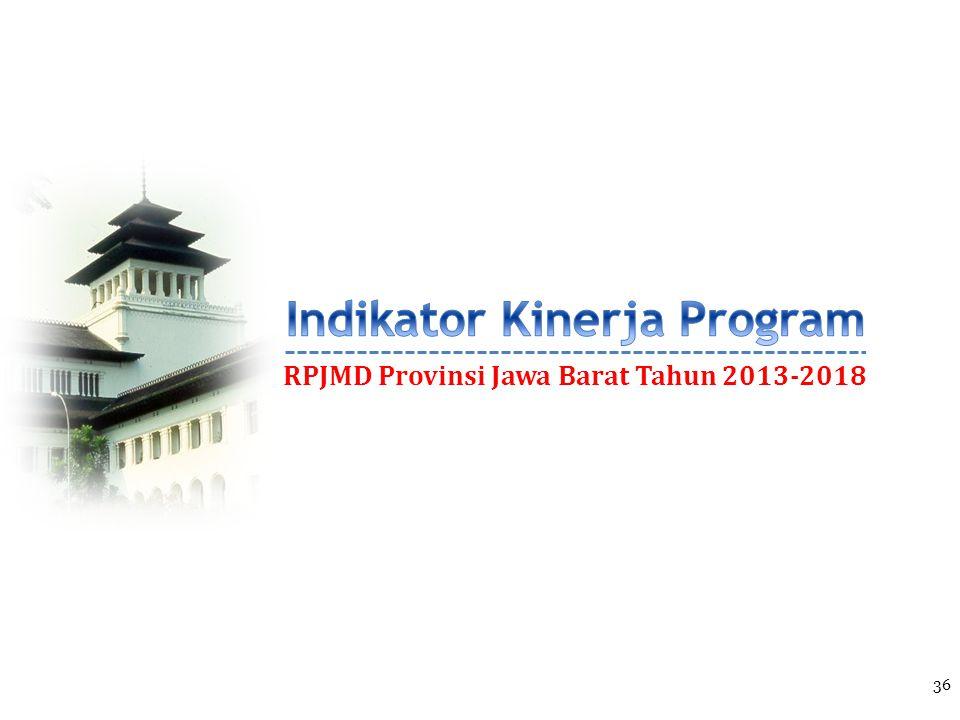 RPJMD Provinsi Jawa Barat Tahun 2013-2018 36