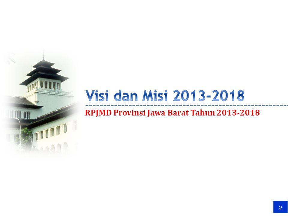 RPJMD Provinsi Jawa Barat Tahun 2013-2018 4 2