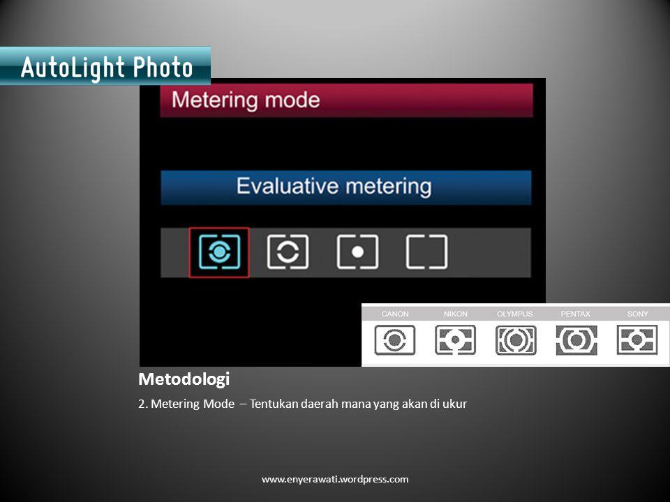 Metodologi 2. Metering Mode – Tentukan daerah mana yang akan di ukur www.enyerawati.wordpress.com