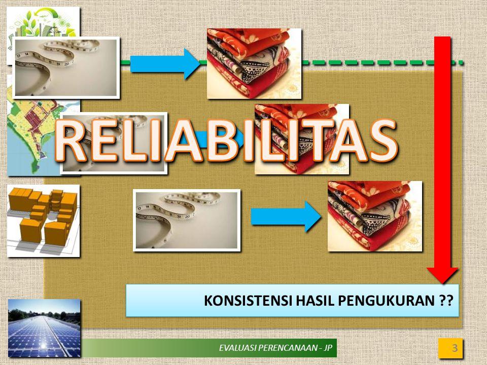 EVALUASI PERENCANAAN - JP BEBERAPA KASUS … 4 PERMASALAHAN VALIDITAS ATAU RELIABILITAS .