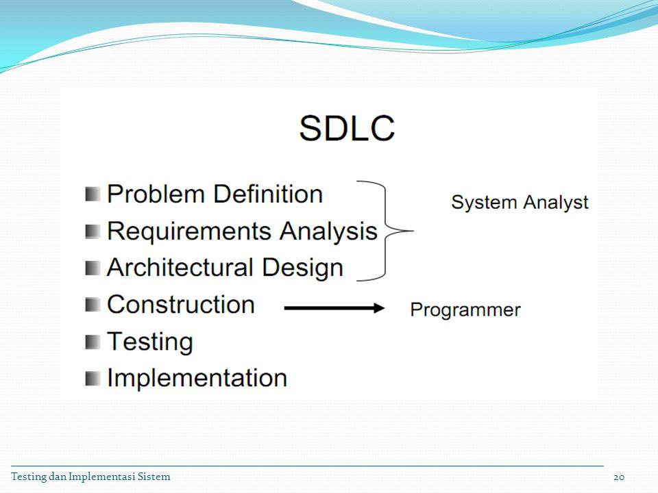 Testing dan Implementasi Sistem20
