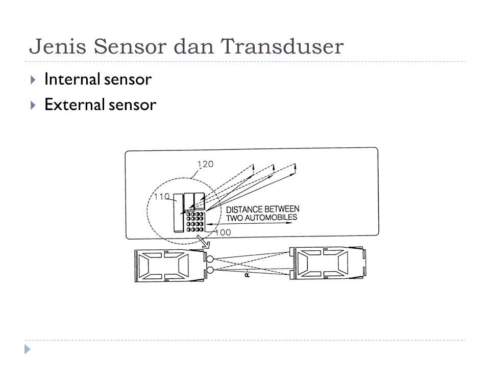 Jenis Sensor dan Transduser  Internal sensor  External sensor