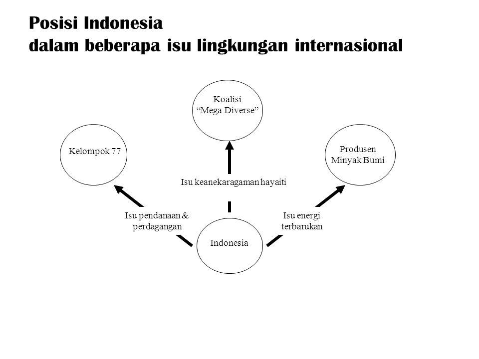 Kecenderungan Pengelolaan SDA dan LH di Indonesia Green Economy Shallow environment management Conventional Economy Deep Ecology Indonesia 1.Konsumtif 2.Hilangnya bentuk kehidupan alamiah 1.Eksploitasi sumberdaya alam 2.S tandar kehidupan material 1.Non Konsumtif 2.Harmonisasi dengan alam 1.Konservasi sumberdaya alam 2.Standar Kehidupan Ekologis