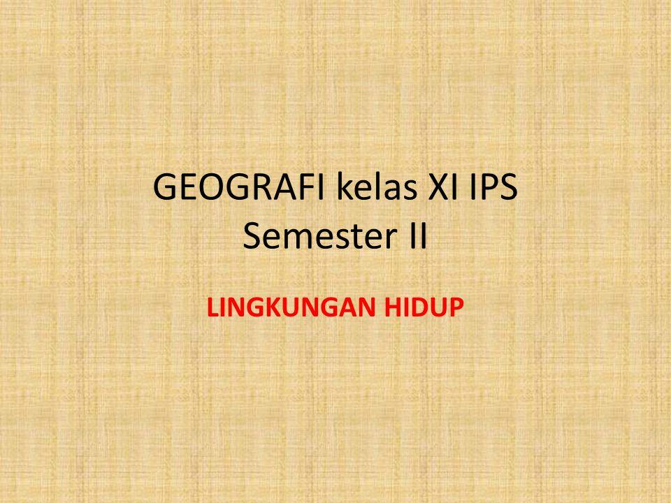 GEOGRAFI kelas XI IPS Semester II LINGKUNGAN HIDUP