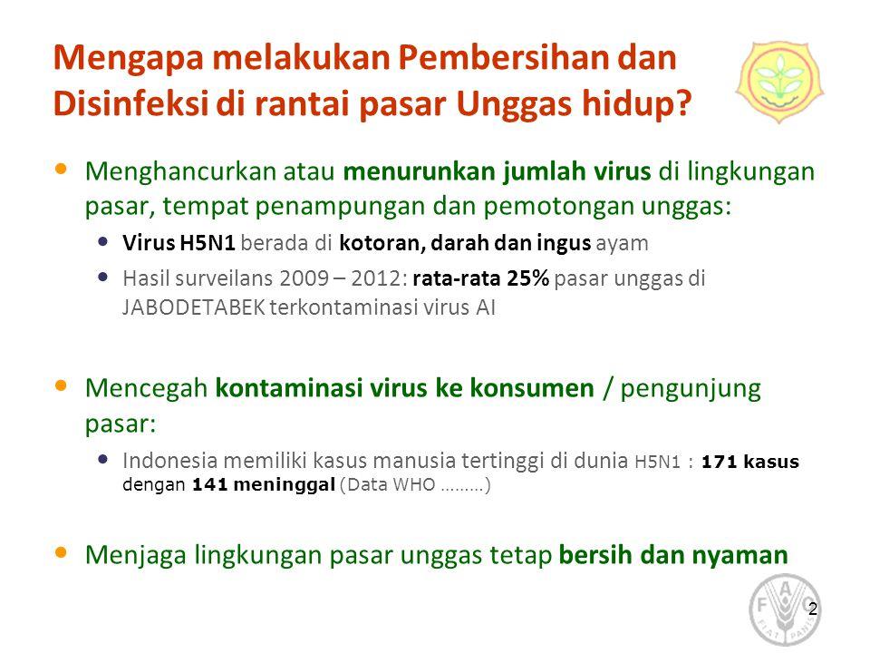 2 Mengapa melakukan Pembersihan dan Disinfeksi di rantai pasar Unggas hidup.