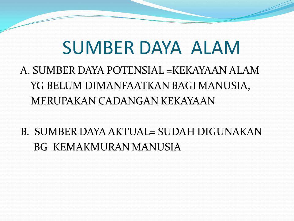 SUMBER DAYA ALAM A.