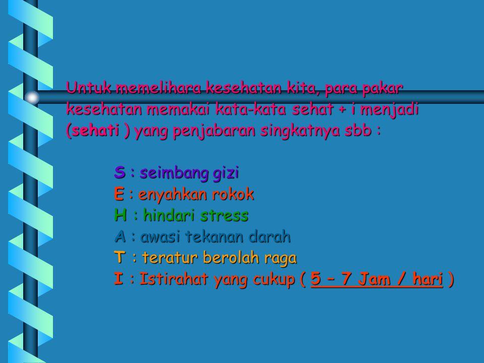 WHO memberi batasan, tekanan darah yang aman MAXIMUM 140/90 mmHg.
