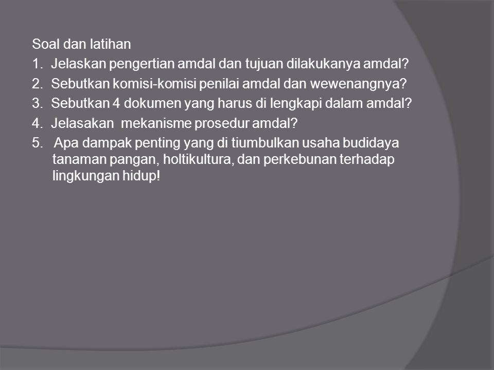 G. Perbedaan Amdal,UKL dan UPL 1. UKL dan UPL bukan merupakan bagian dari Amdal, UPL dan UKL tidak dinilai oleh komisi penilai amdal, tetapi diarahkan
