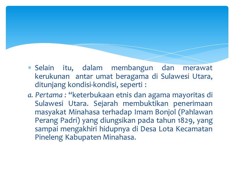  Peran pencegahan yang dilakukan oleh BKSAUA direalisasikan dalam prorgam-program memasyarakatkan kerja sama antar pemeluk agama yang berbeda.