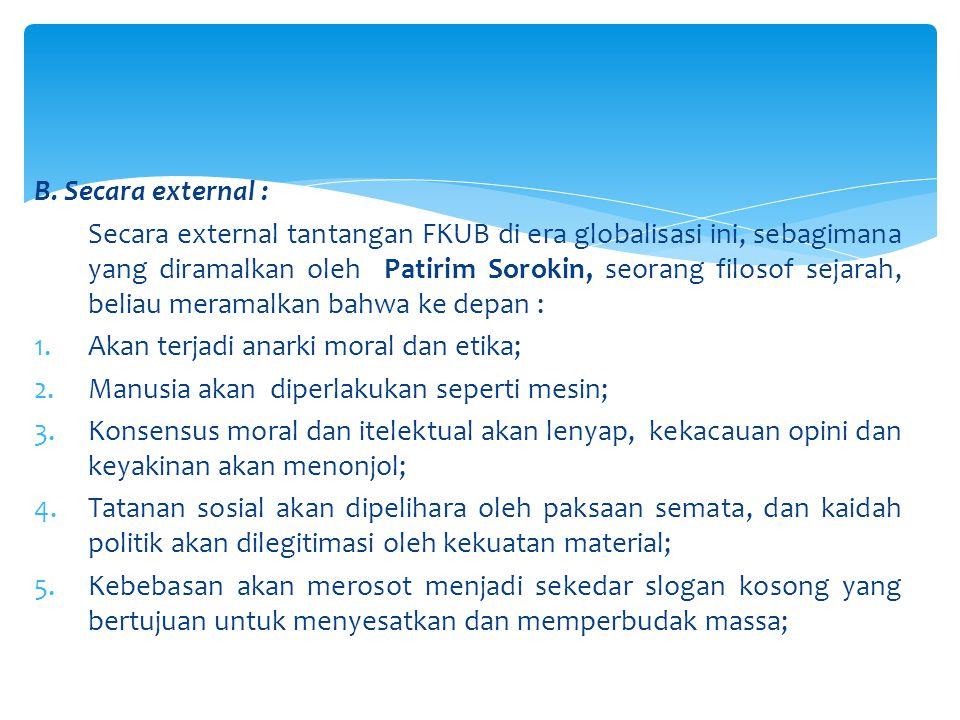 A.Secara internal : 1. Pendanaan organisasi 2.