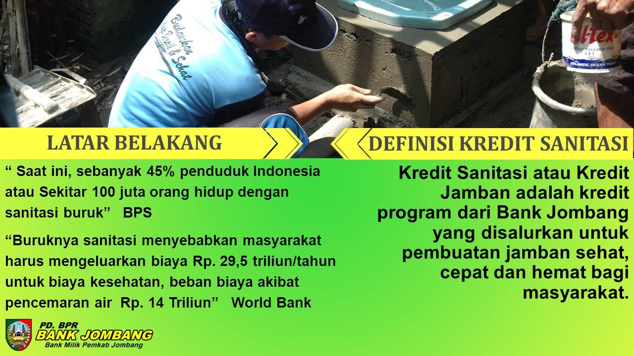 Kredit Sanitasi atau Kredit Jamban adalah kredit program dari Bank Jombang yang disalurkan untuk pembuatan jamban sehat, cepat dan hemat bagi masyarak
