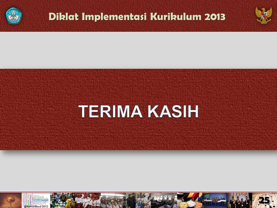 Diklat Implementasi Kurikulum 2013 25