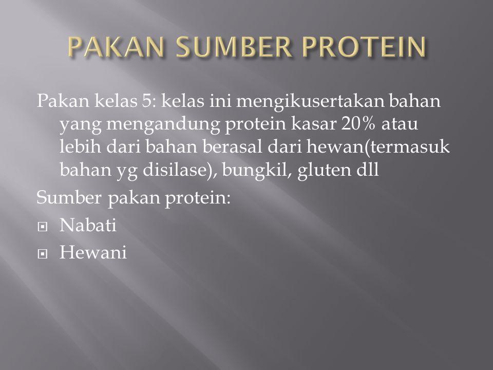 NutrienKandungan Protein80 % Lemak5 % Serat (maksimum)4 % Abu4 % Fosfor0,75 % Kandungan Air (maksimum)10 % Kecernaan pepsin (minimum)75 %