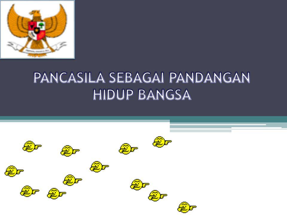 Makna dari pandangan hidup bangsa indonesia Bangsa istilah lain Nation Ernest Renan bangsa adalah Soal perasaan jadi Segerombolan manusia yang mau bersatu, dan merasa dirinya bersatu Sedangkan Otto Bauer satu persatuan perangai yang timbul karena persatuan nasib