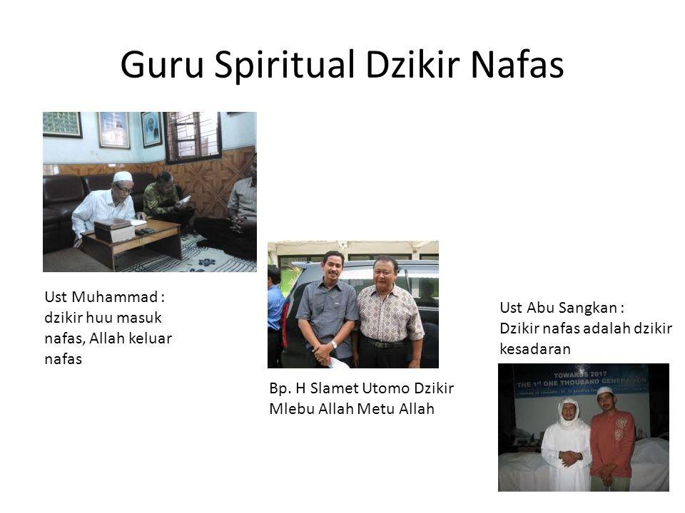 Guru Spiritual Dzikir Nafas Ust Muhammad : dzikir huu masuk nafas, Allah keluar nafas Bp. H Slamet Utomo Dzikir Mlebu Allah Metu Allah Ust Abu Sangkan