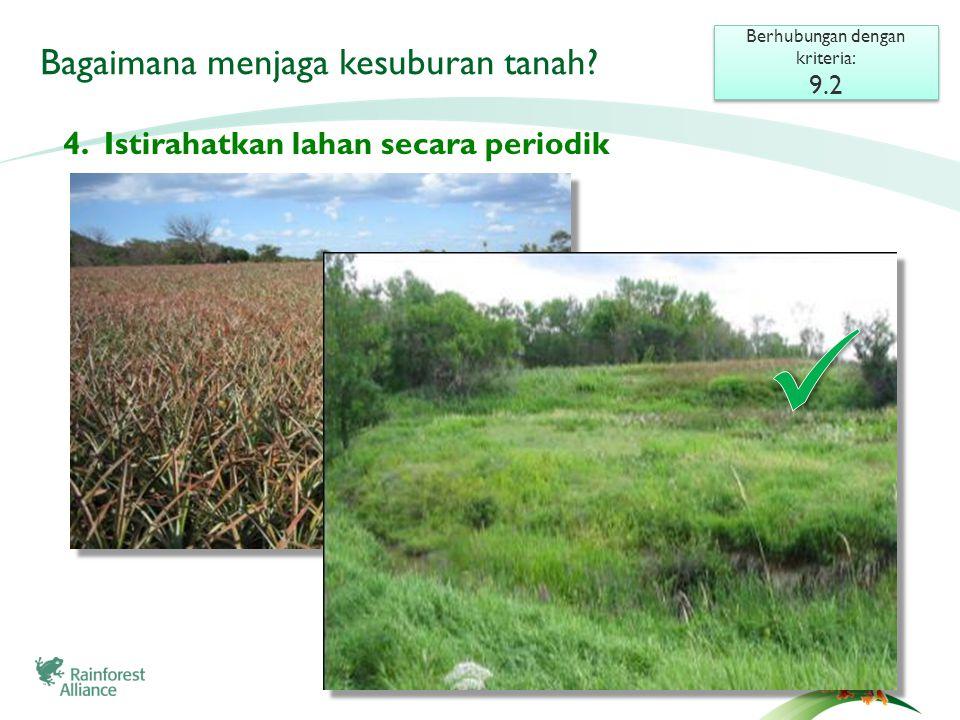 Bagaimana menjaga kesuburan tanah. 4.