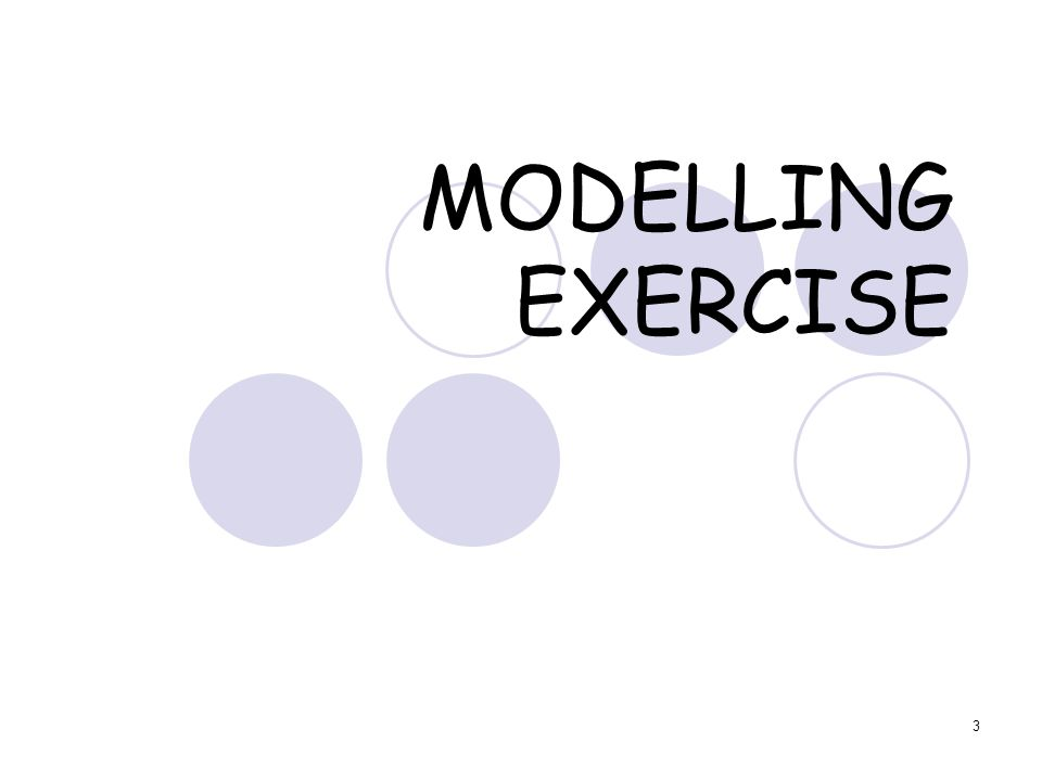 3 MODELLING EXERCISE