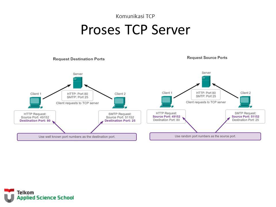 Komunikasi TCP Proses TCP Server