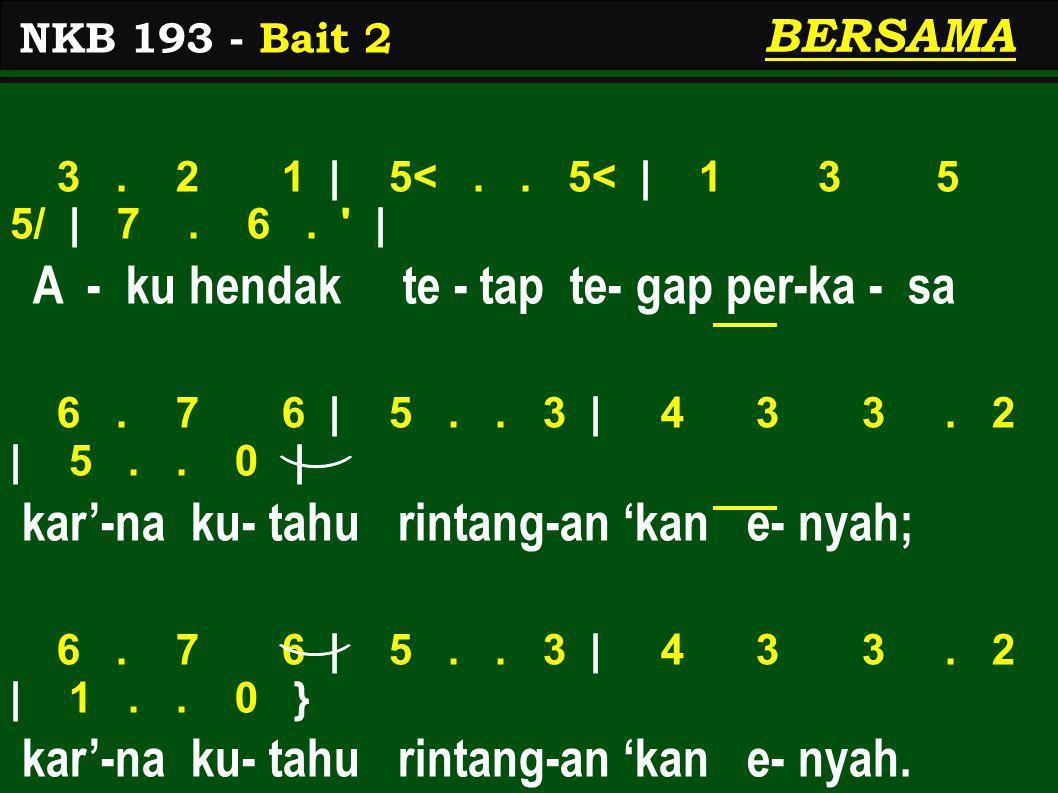 3.2 1 | 5<.. 5< | 1 3 5 5/ | 7. 6. | A - ku hendak te - tap te- gap per-ka - sa 6.