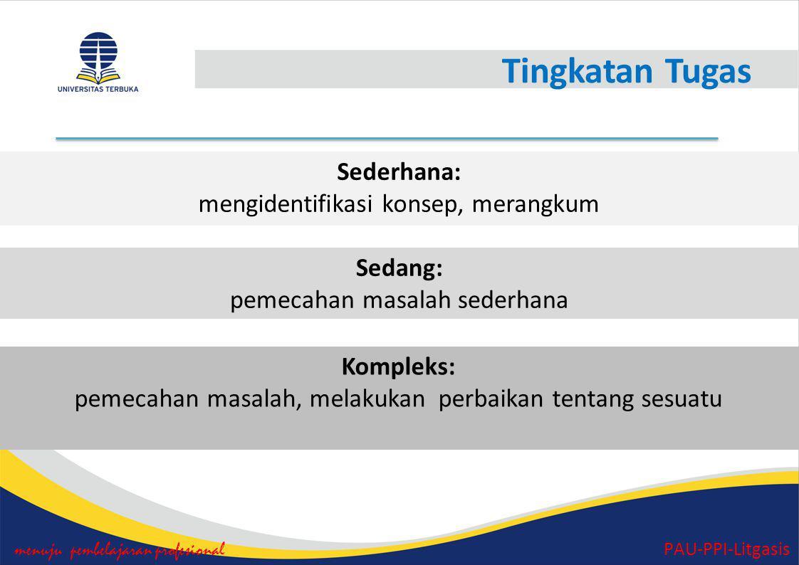 Penilaian Tugas (Umpan Balik) menuju pembelajaran profesional PAU-PPI-Litgasis 1.