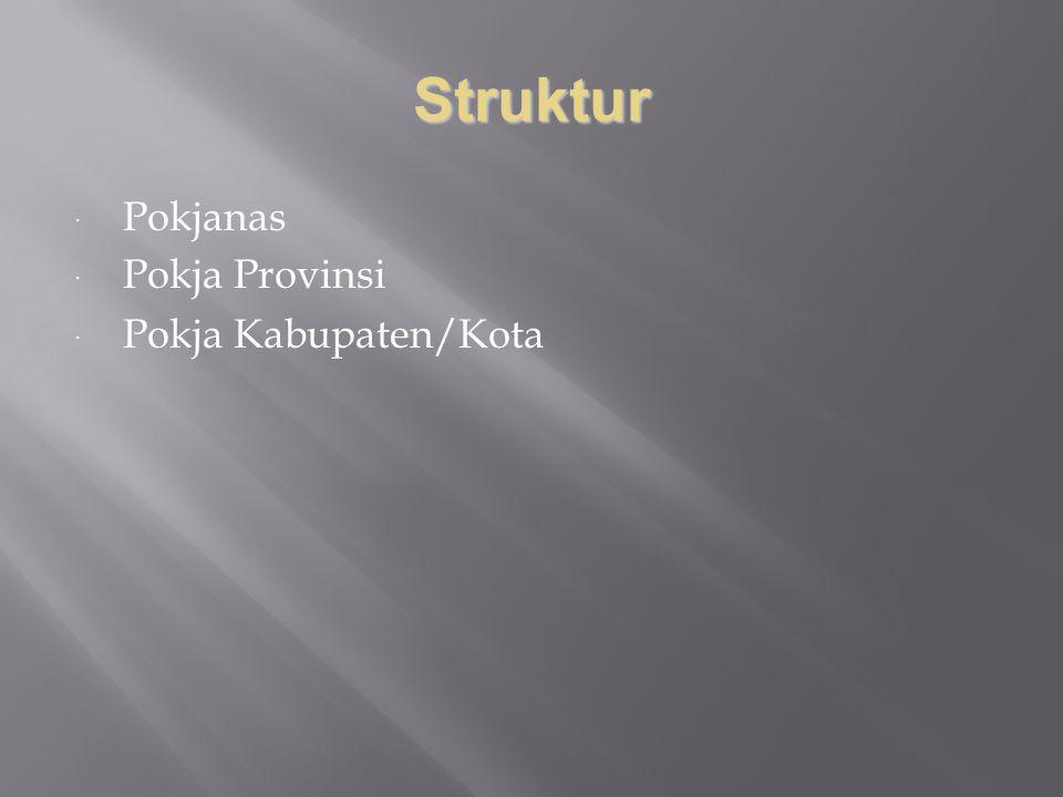Struktur  Pokjanas  Pokja Provinsi  Pokja Kabupaten/Kota