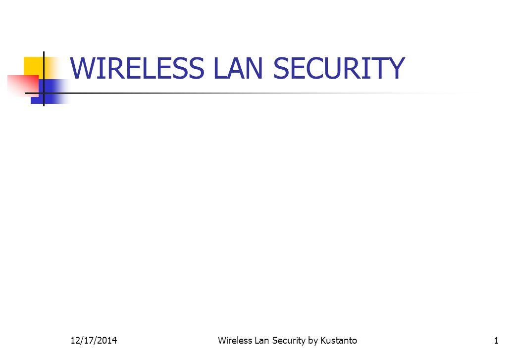 12/17/2014Wireless Lan Security by Kustanto12 802.1x EAP-TLS operation controller mode