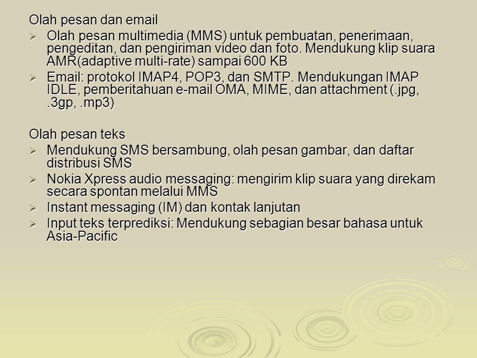 Antarmuka pengguna  Series 40 3rd Edition  Modus komunikasi: navigasi 5 arah, tombol Panggil/Putus, tombol nomor ITUT  Tombol kanan dan menu yang d