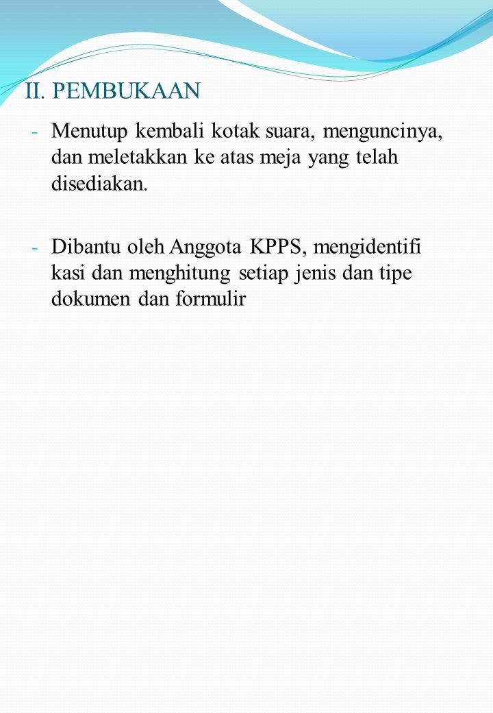 II.PEMBUKAAN 1.