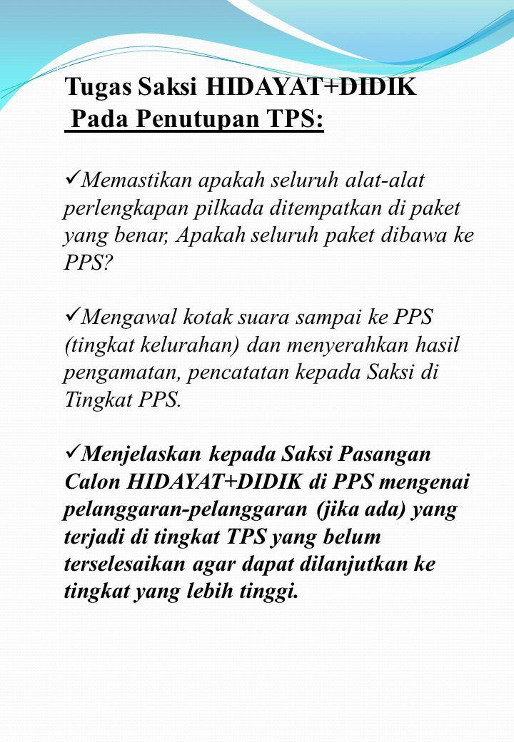 Kasus-kasus yang Mungkin Timbul Saat Pemungutan Suara KasusSolusi Nama pemilih tidak tercatat di lembaran daftar pemilih Tidak diperbolehkan untuk memilih di TPS tersebut.