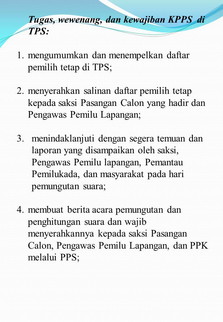 MOHON PERHATIAN 1.SAKSI harus memastikan tidak ada kesalahan dalam menghitung jumlah surat suara Sah, Surat suara tidak sah dan Surat Suara sisa; 2.