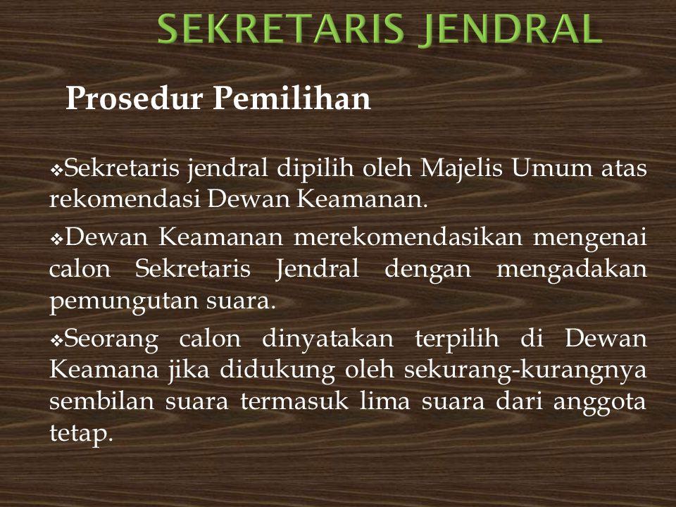  Apabila salah satu anggota tetap dewan menolak atau memveto calon yang bersangkutan, berarti calon tersebut tidak dapat diajukan ke Majelis Umum.