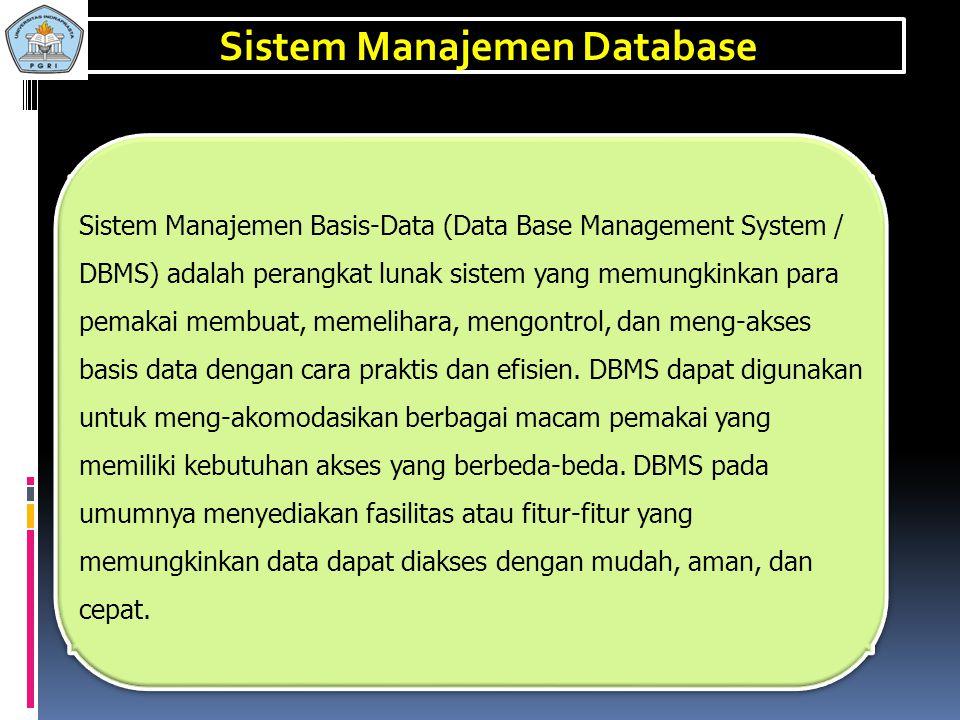 Sistem Manajemen Database