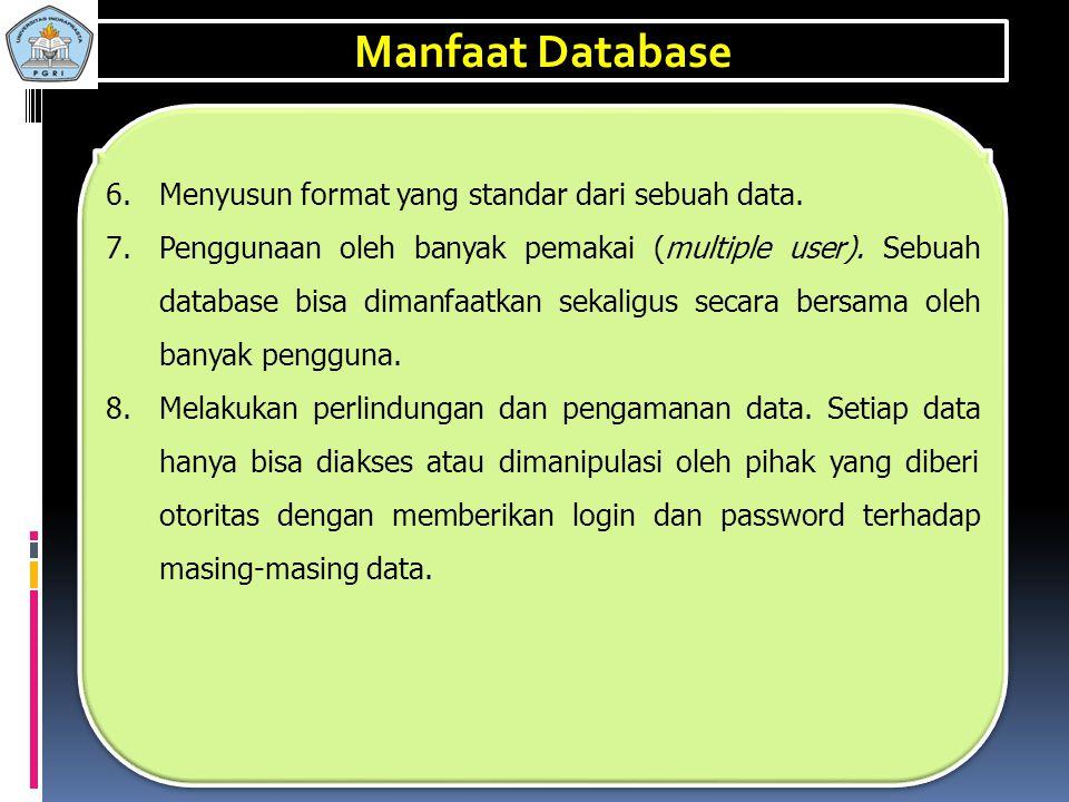 1.Sebagai komponen utama atau penting dalam sistem informasi, karena merupakan dasar dalam menyediakan informasi. 2.Menentukan kualitas informasi yait