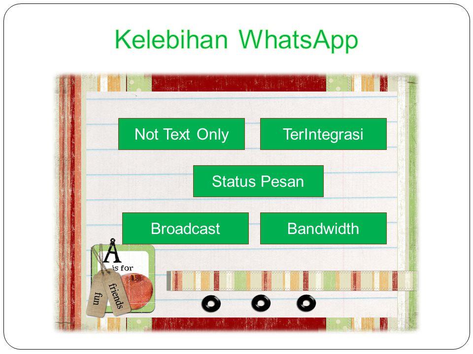 Status Pesan Not Text OnlyTerIntegrasi BandwidthBroadcast Status Pesan Not Text OnlyTerIntegrasi BandwidthBroadcast