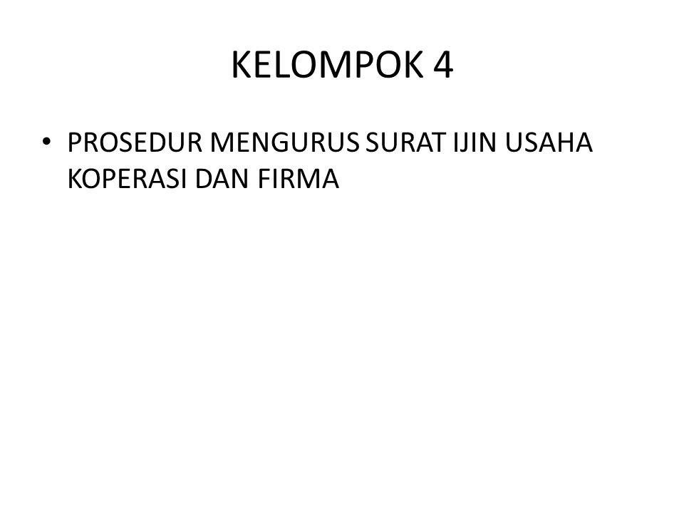 KELOMPOK 5 Prosedur Pengurusan NPWP dan Akta Notaris untuk pendirian badan hukum